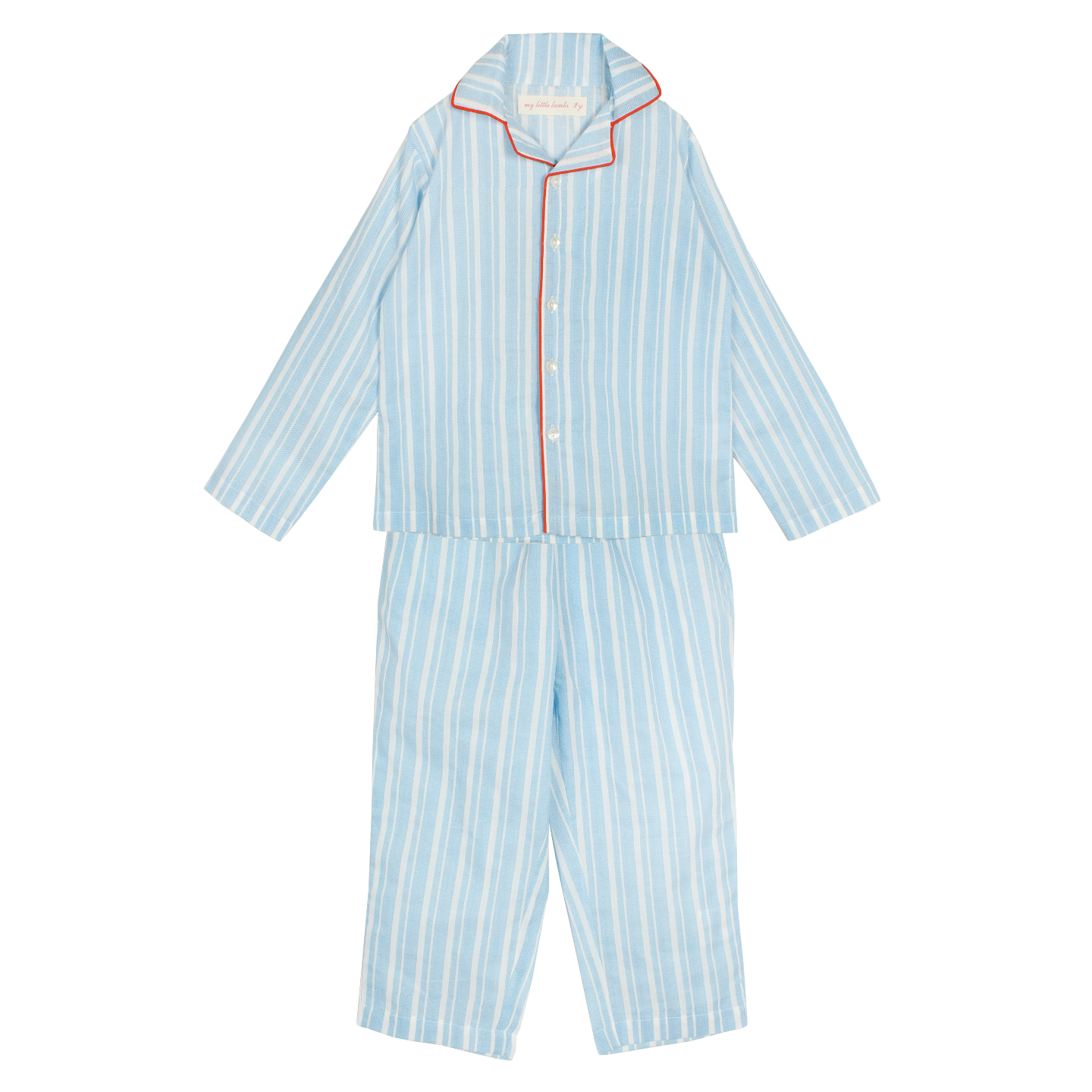 Zig Zag Stripe Blue Night Suit