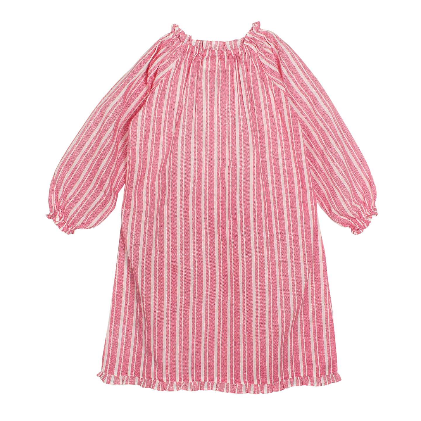 French pink full sleeve night dress