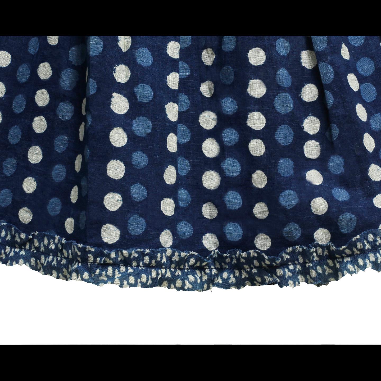 Bagru Printed Wrap dress