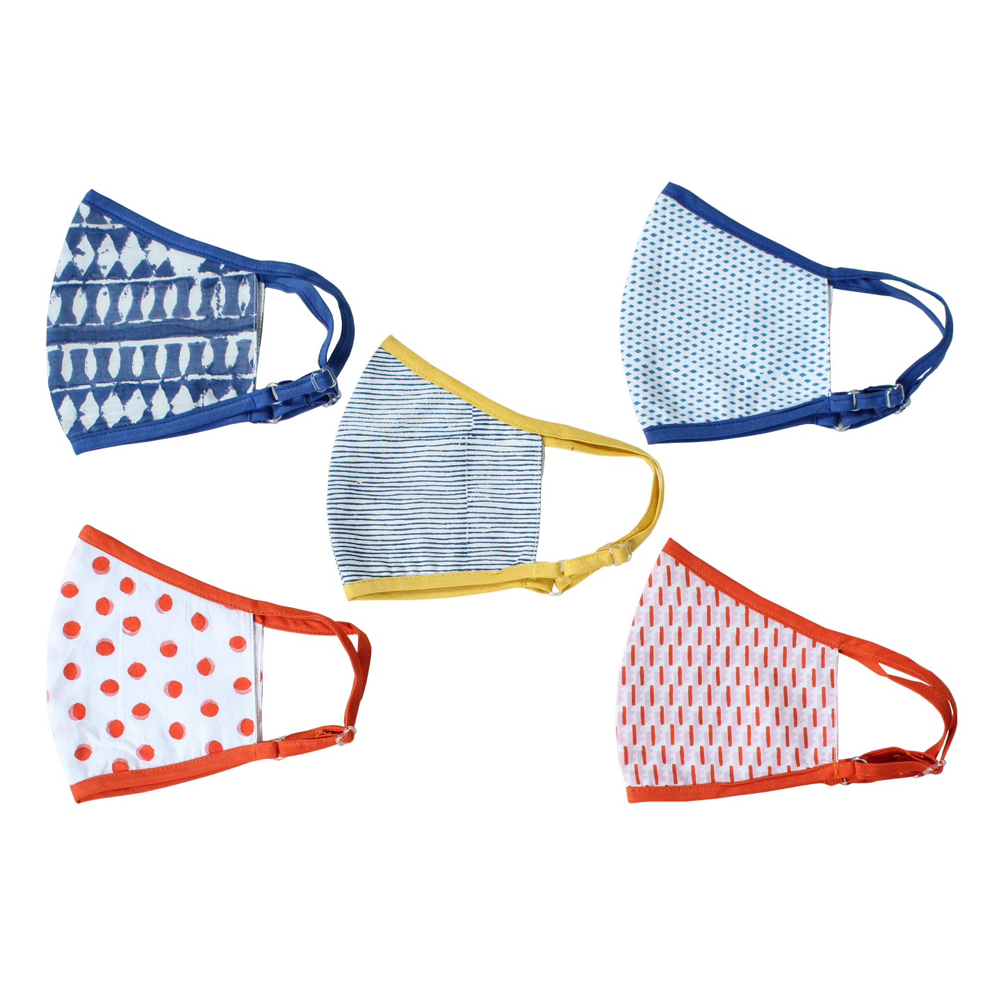 Printed Outdoor Mask - Set of 5