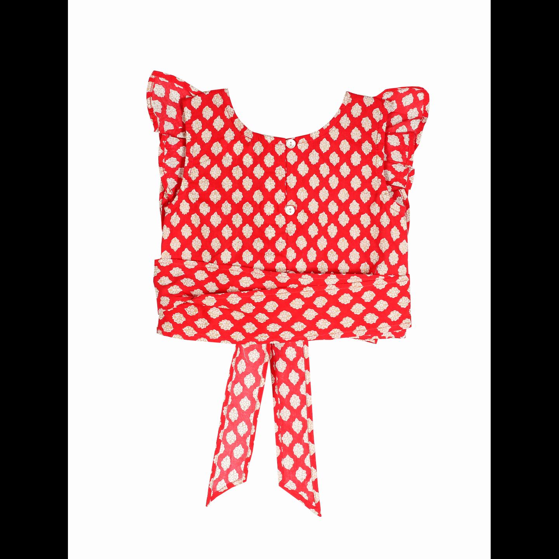Hema Buti Top - Red