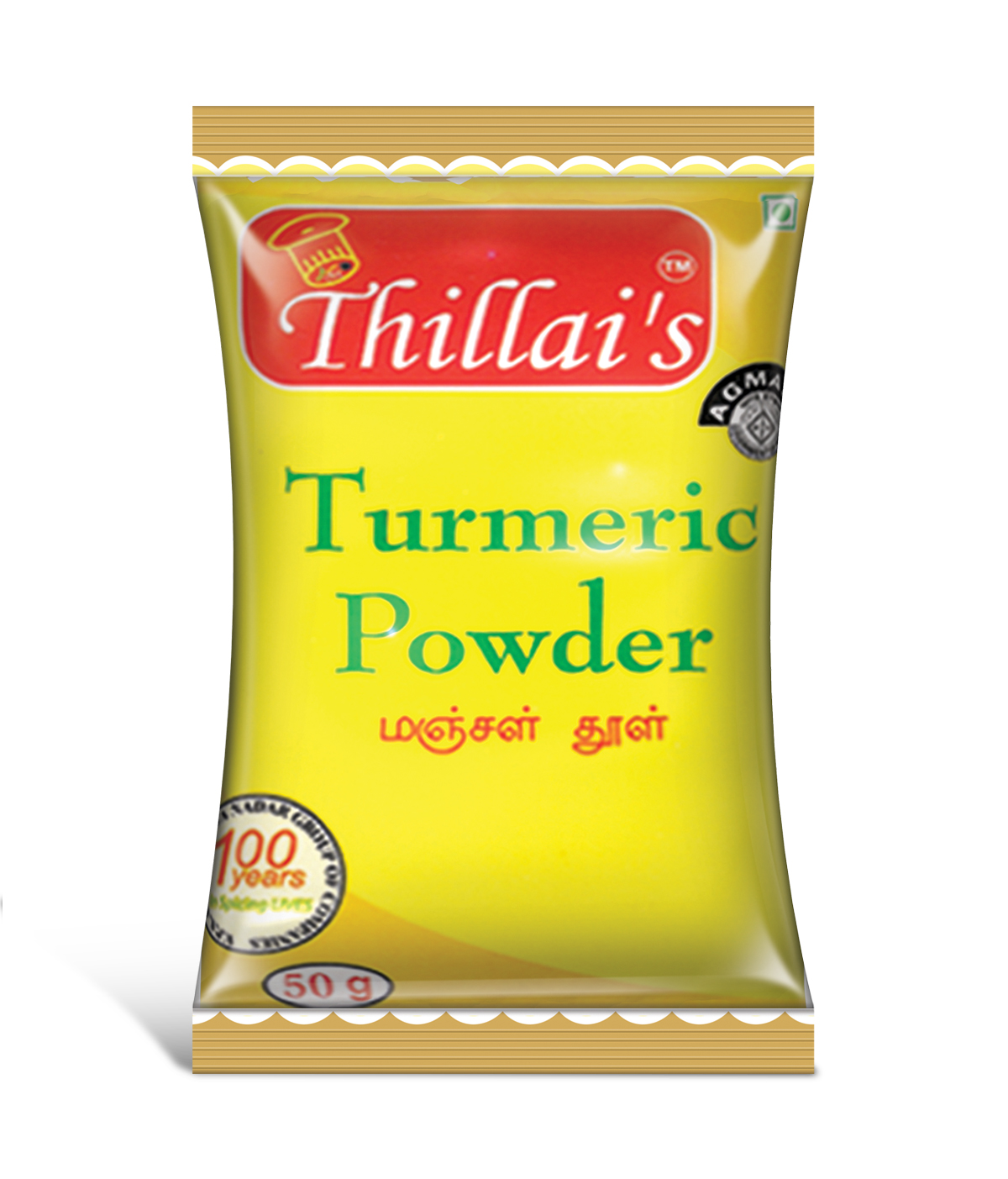 Thillais Turmeric Haldi Powder-50g Ayurvedic Natural Anti-inflammotary with high Curcumin