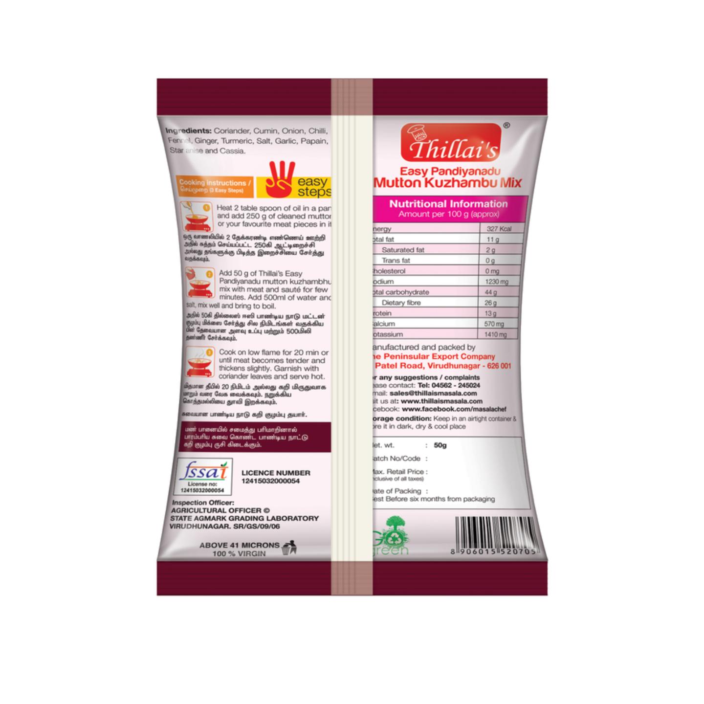 Thillsis Easy Pandiyanadu Mutton Kuzhambu Mix-Mutton Masala