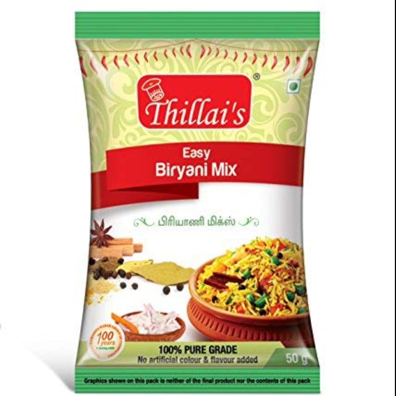 Thillais Biryani Meals Combo-Easy Biryani Masala,Easy Chicken65 Mix,Easy Chettinad Chicken Mix