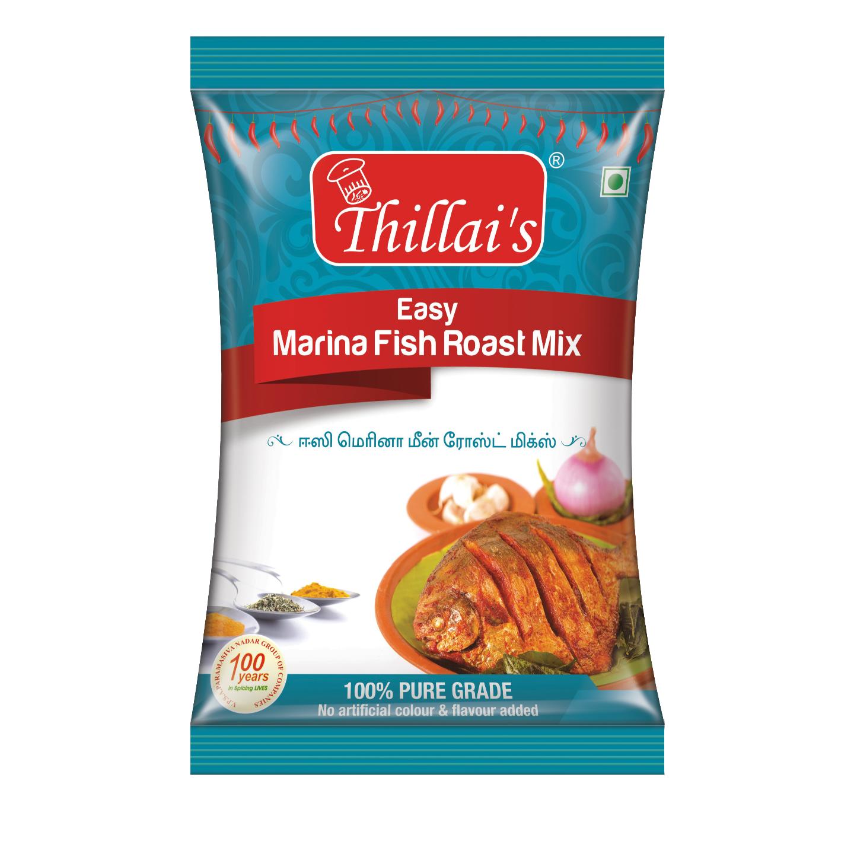 Thillais Fish Curry Masala and Roast Combo-Thillais Easy Madras Fish masala, Easy Marina Fish Roast Mix