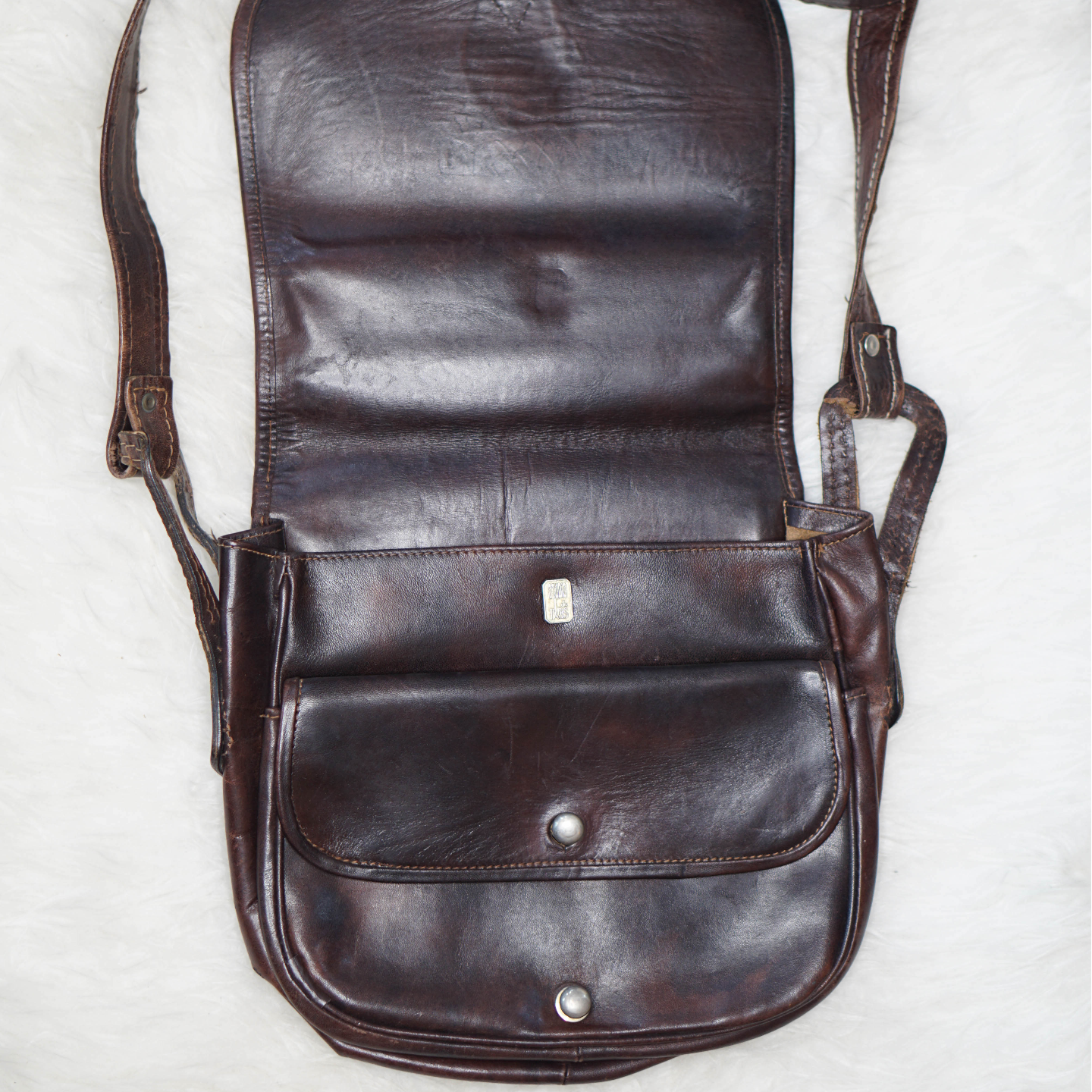 Vintage Dark Leather Saddle