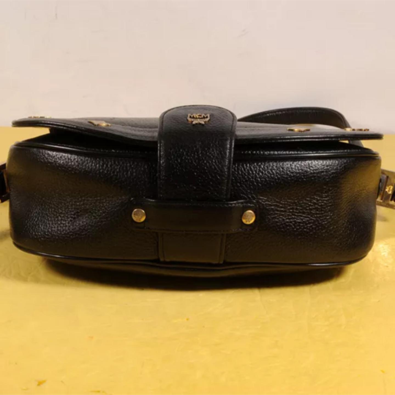 MCM Vintage Black Leather Crossbody