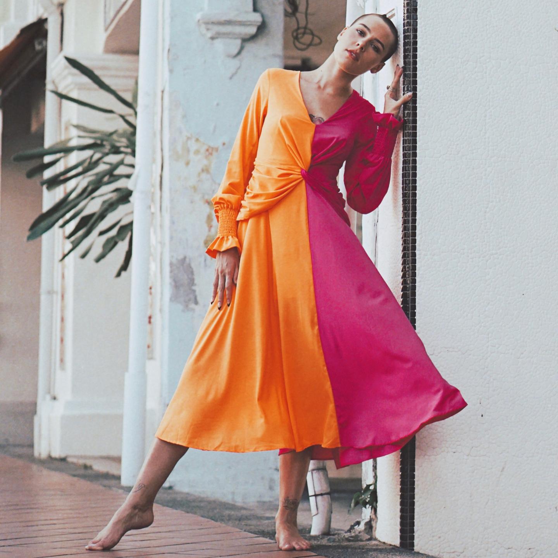 Lou Two-Tone Dress
