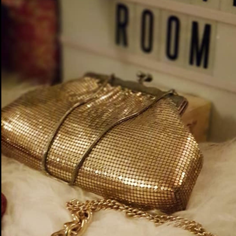 Vintage Gold Mesh Bag