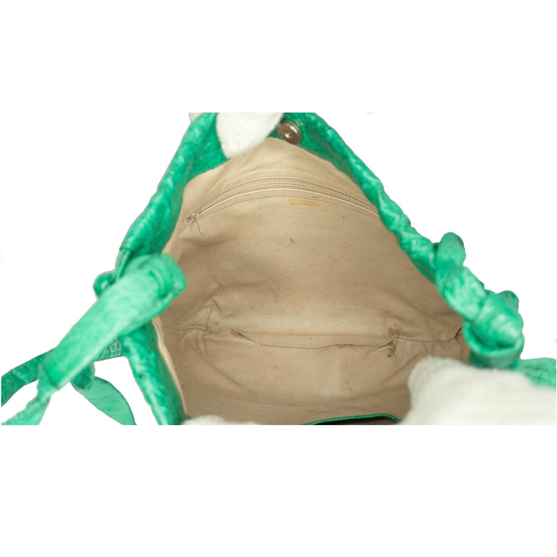 Vintage Green Ostrich Bag