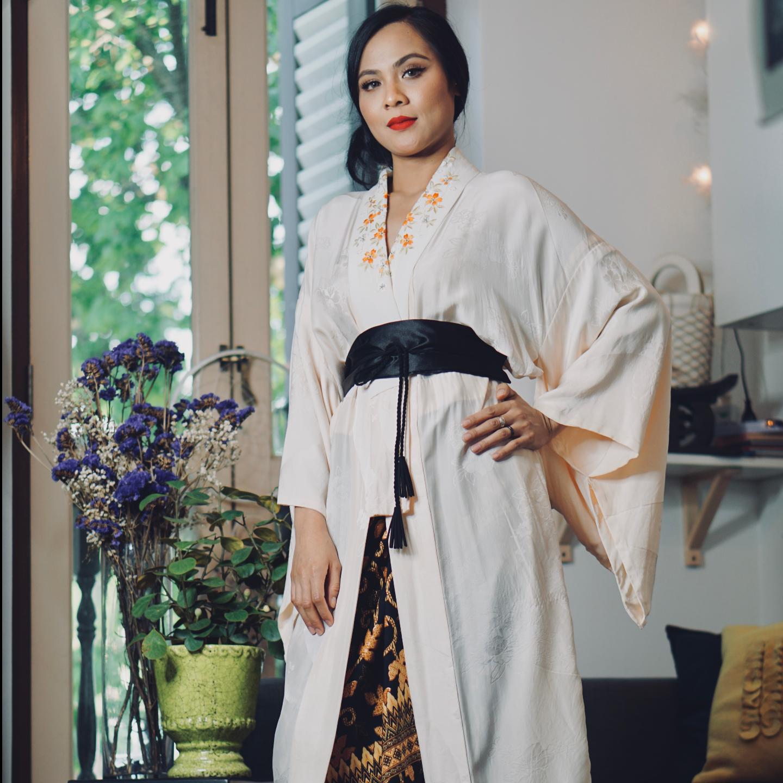 Aoki Hana Kimono Kurung Set