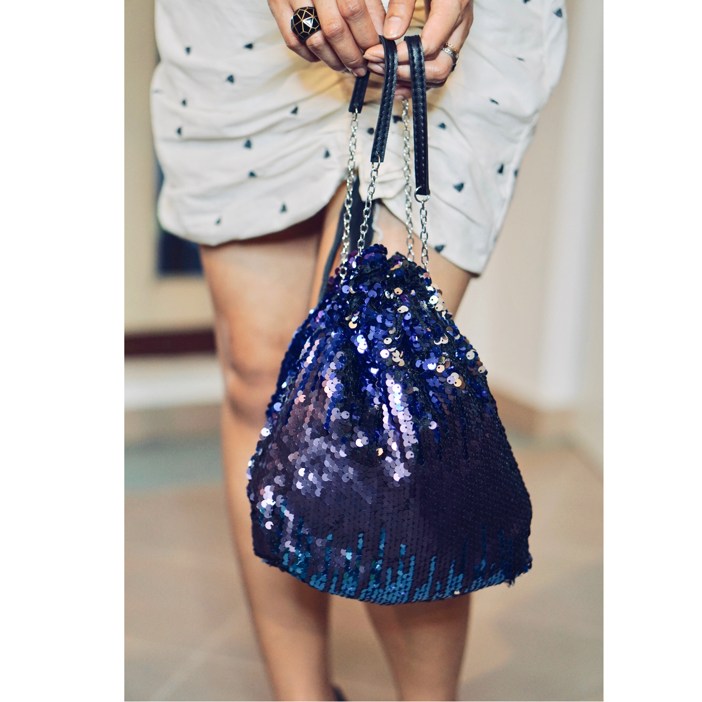 Sari Sequinned Bag