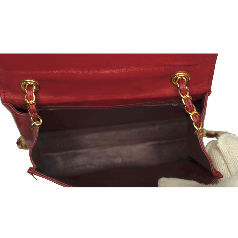 Vintage Chanel Red Lamb Skin Bag