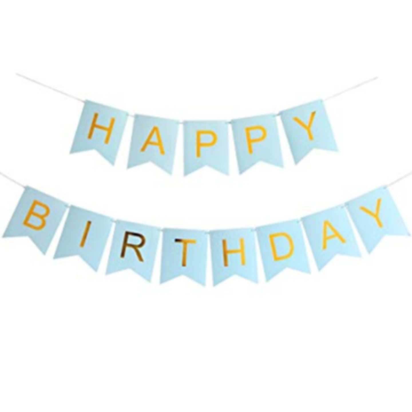 Gold Font Happy Birthday Banner