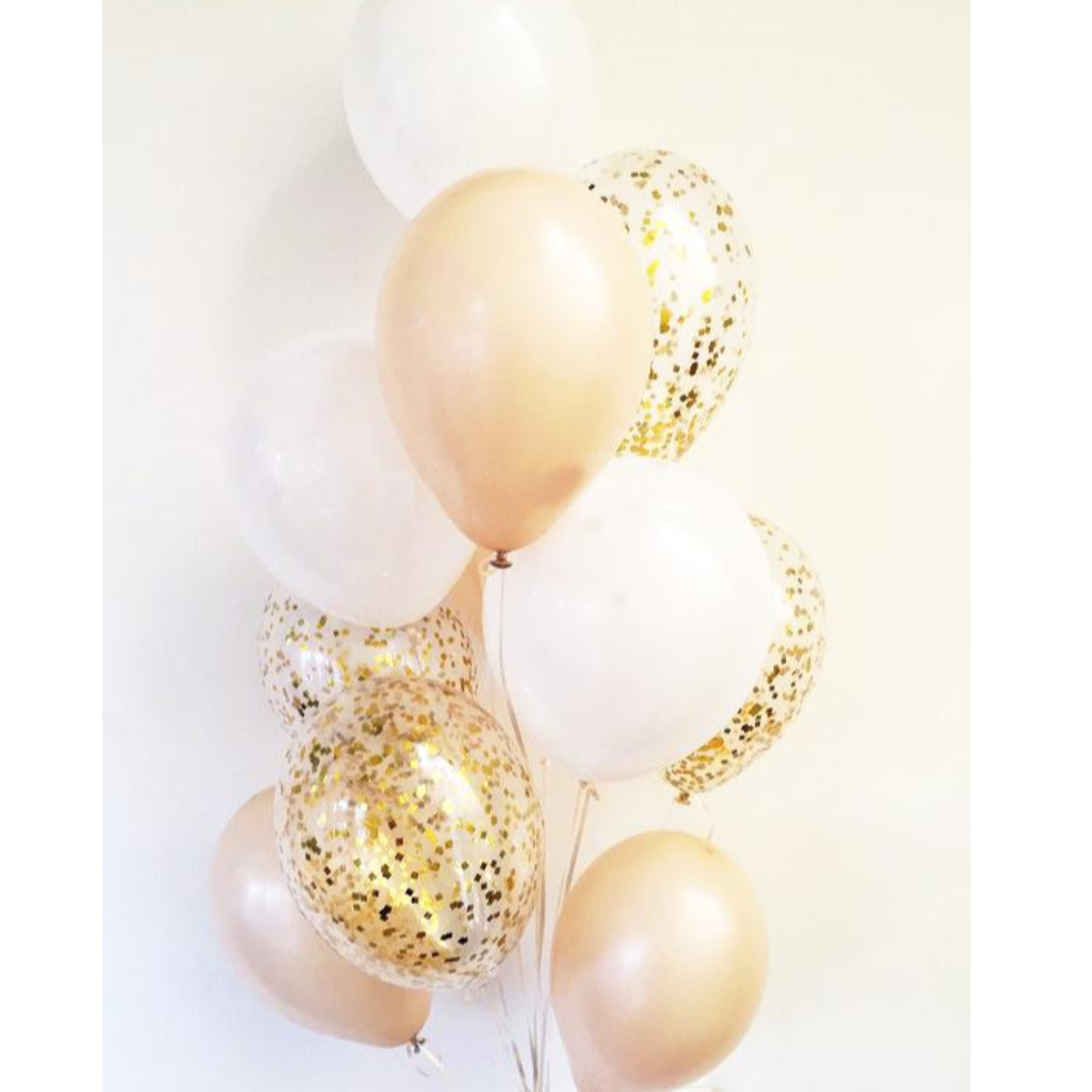 "[Helium Inflated] 12"" Confetti Balloon Bouquet"