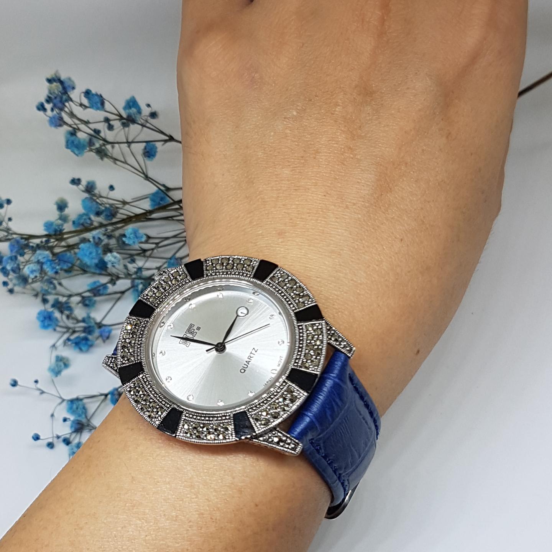 Calf Leather Watch Onyx HW171 Blue