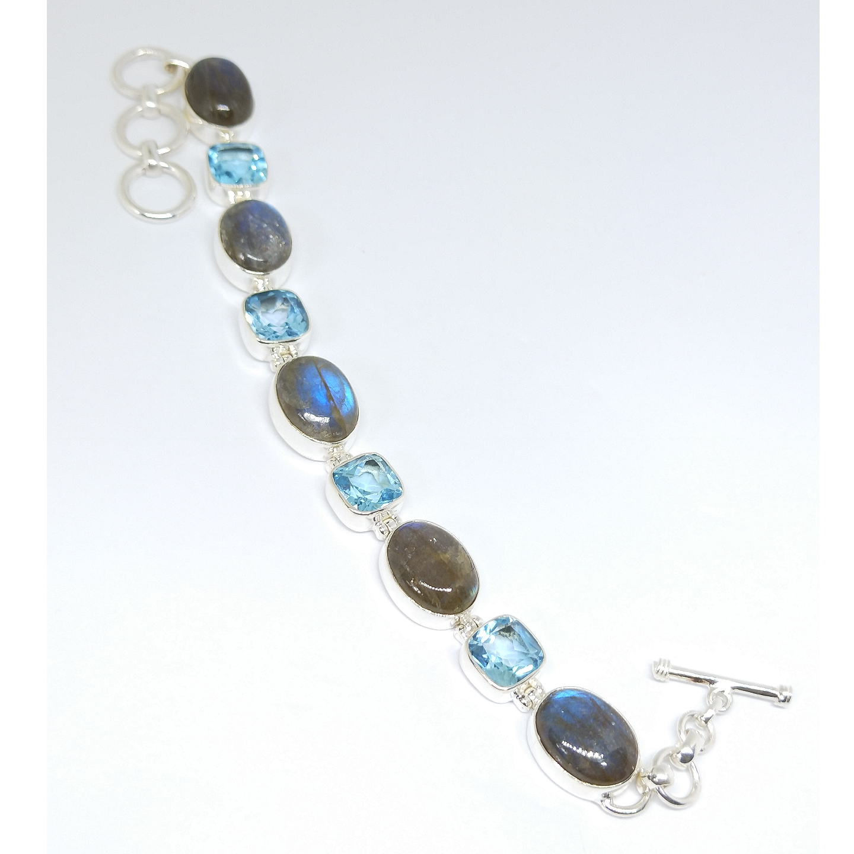 Handmade Jewelry Labradorite & Topaz