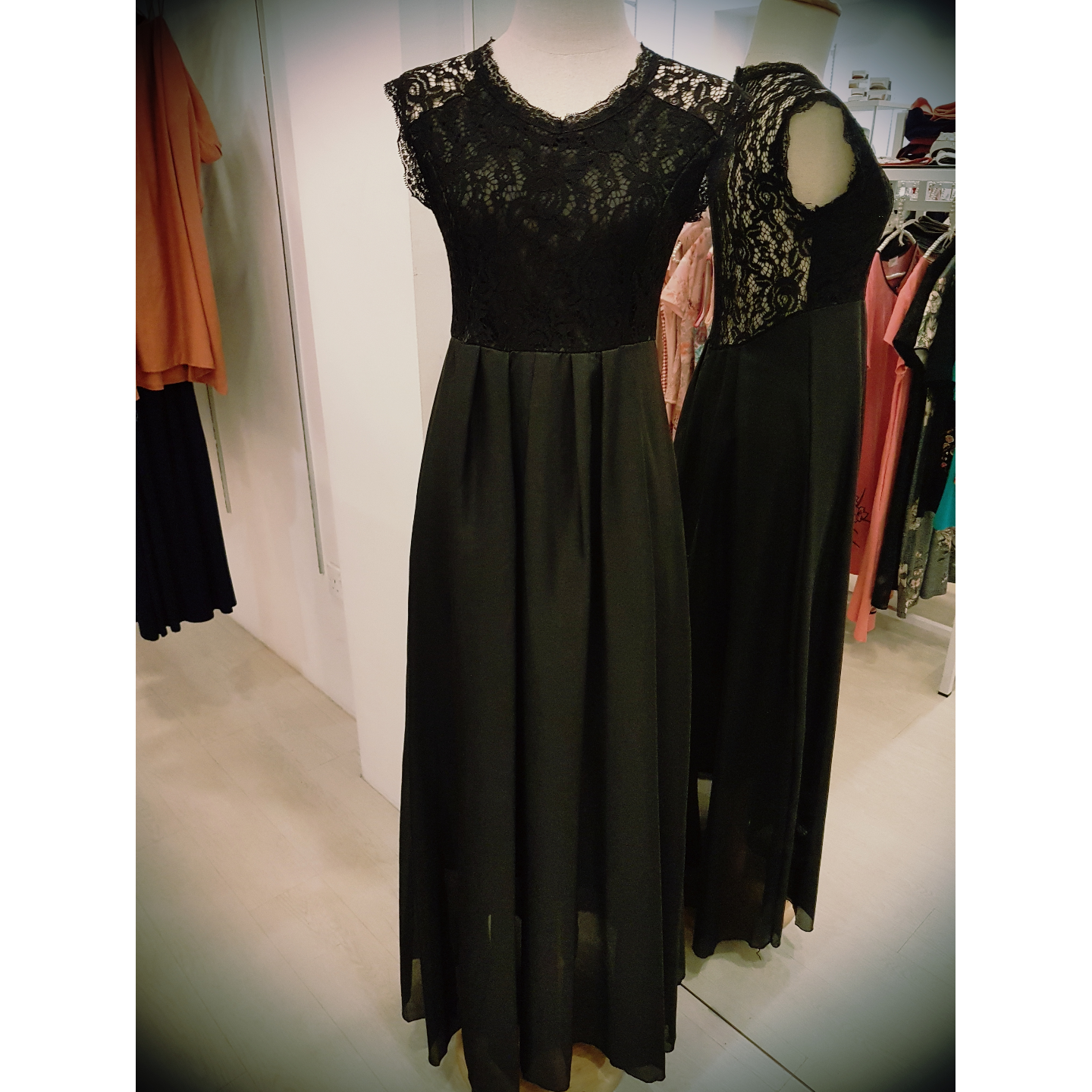 Lace Dress Black