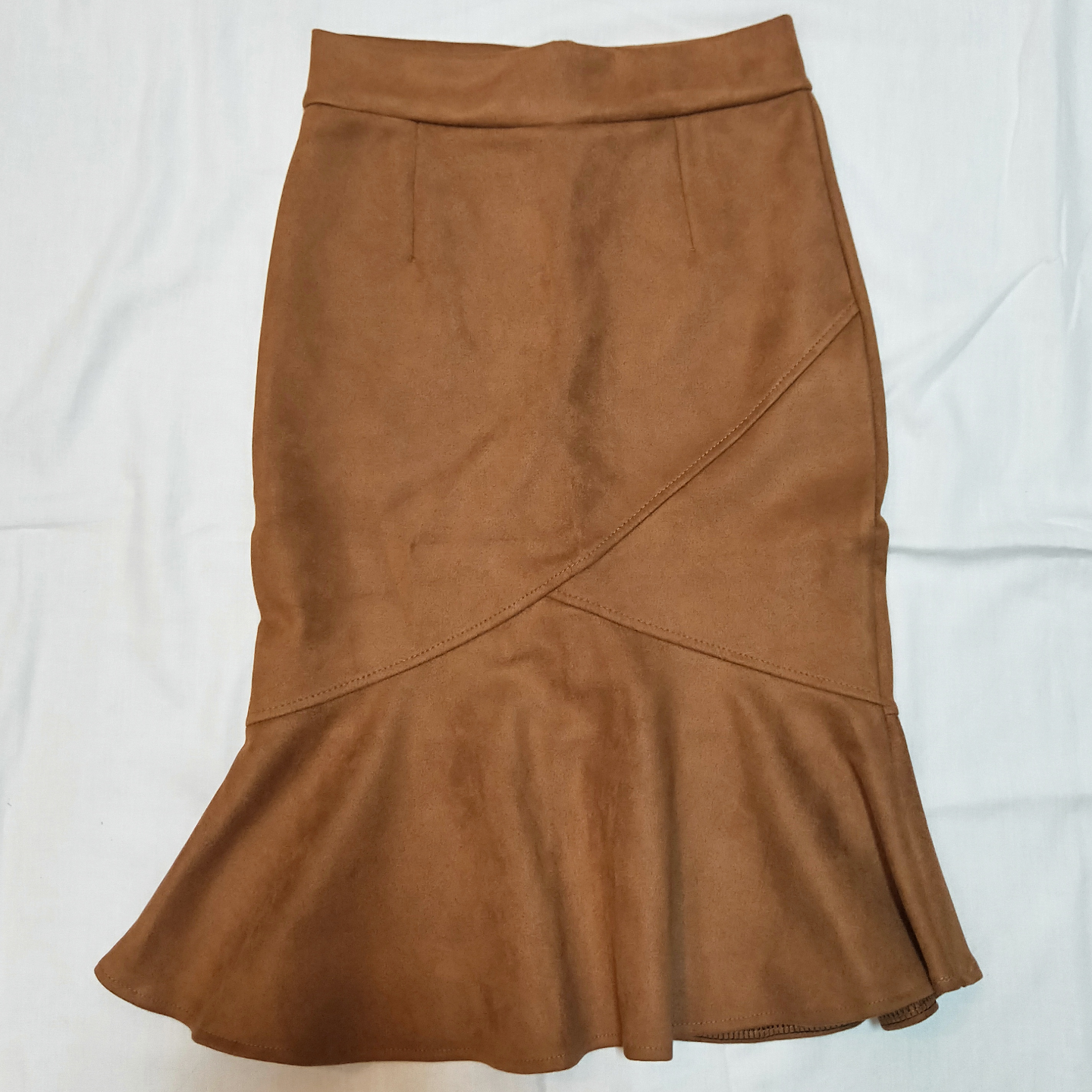 Suede mermaid skirt *Brown