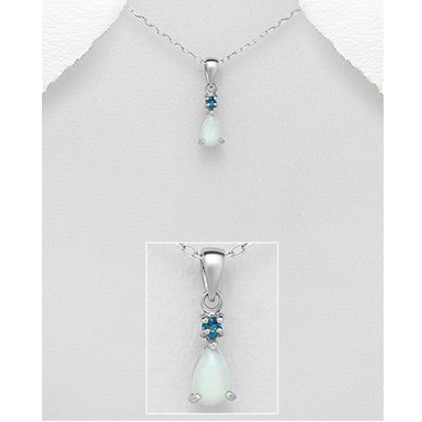 Preciada *Opal & London Blue Pendant