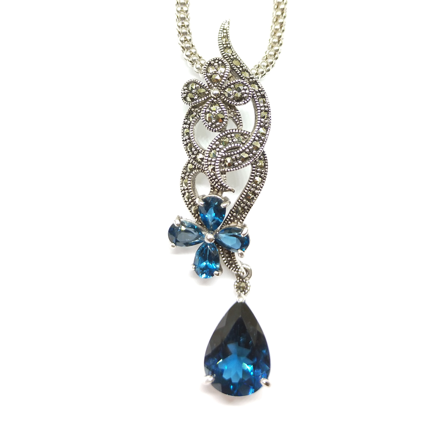 Spirulina Pendant Topaz London Blue HP0957