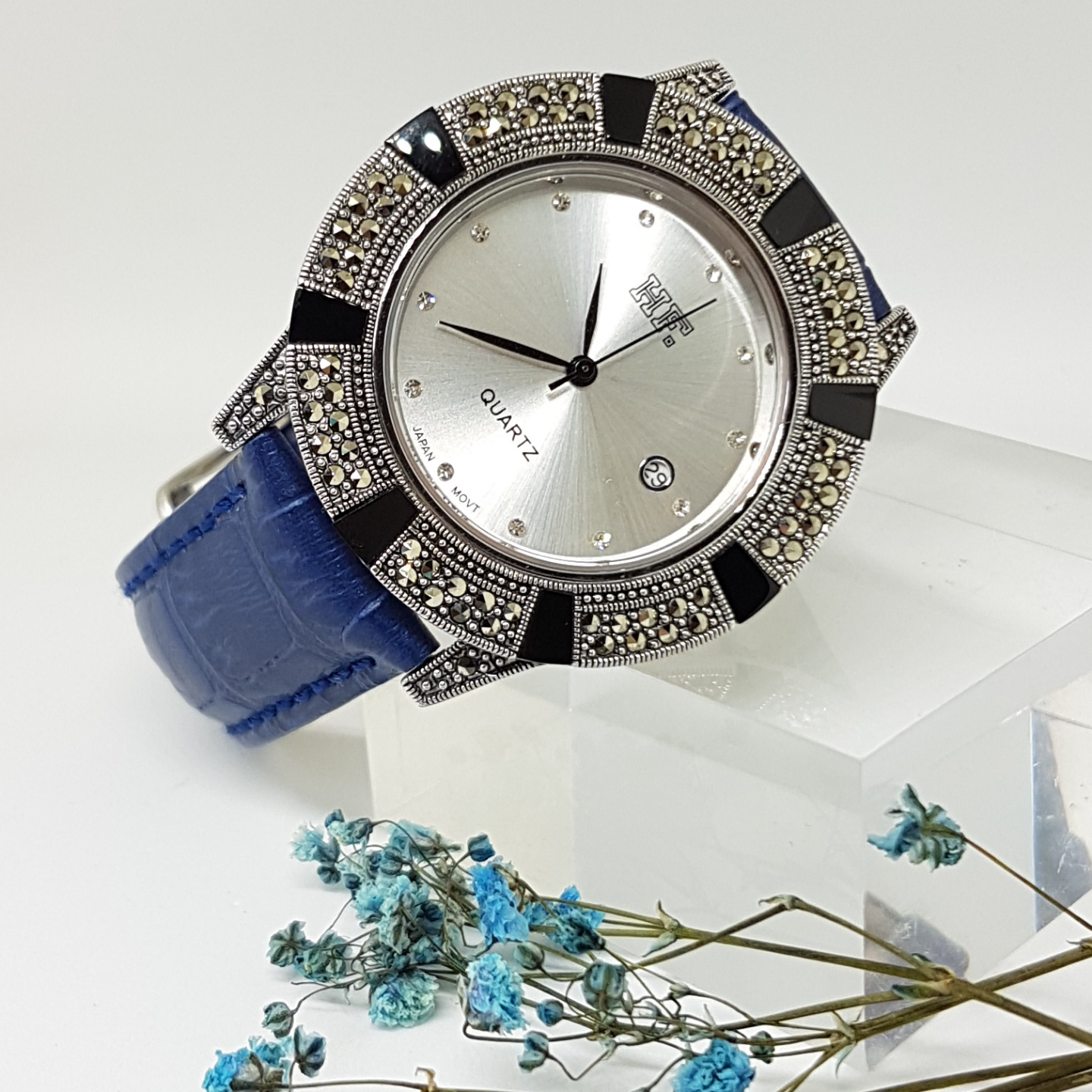 Calf Leather Watch Onyx HW171 Blue