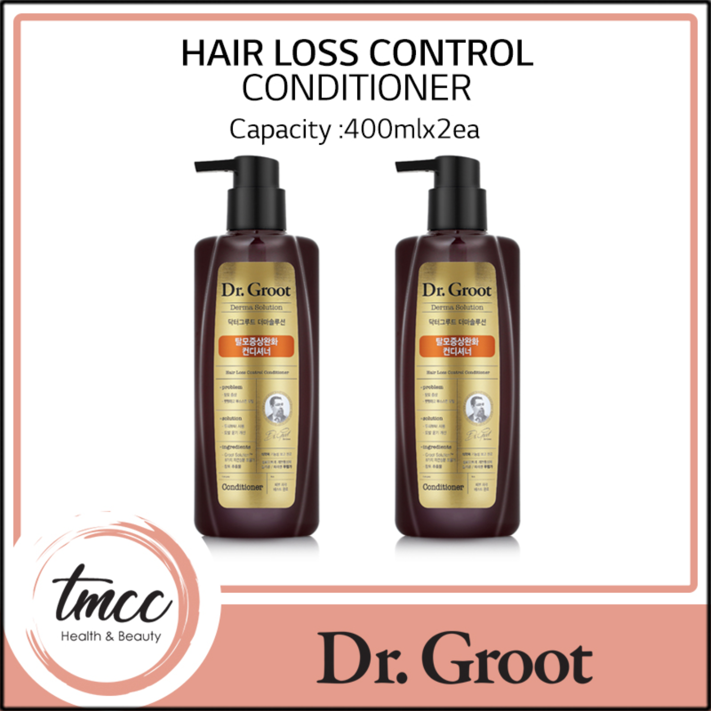 [1+1] Dr Groot Anti-Hair Loss Total Care Conditioner 400ml x 2