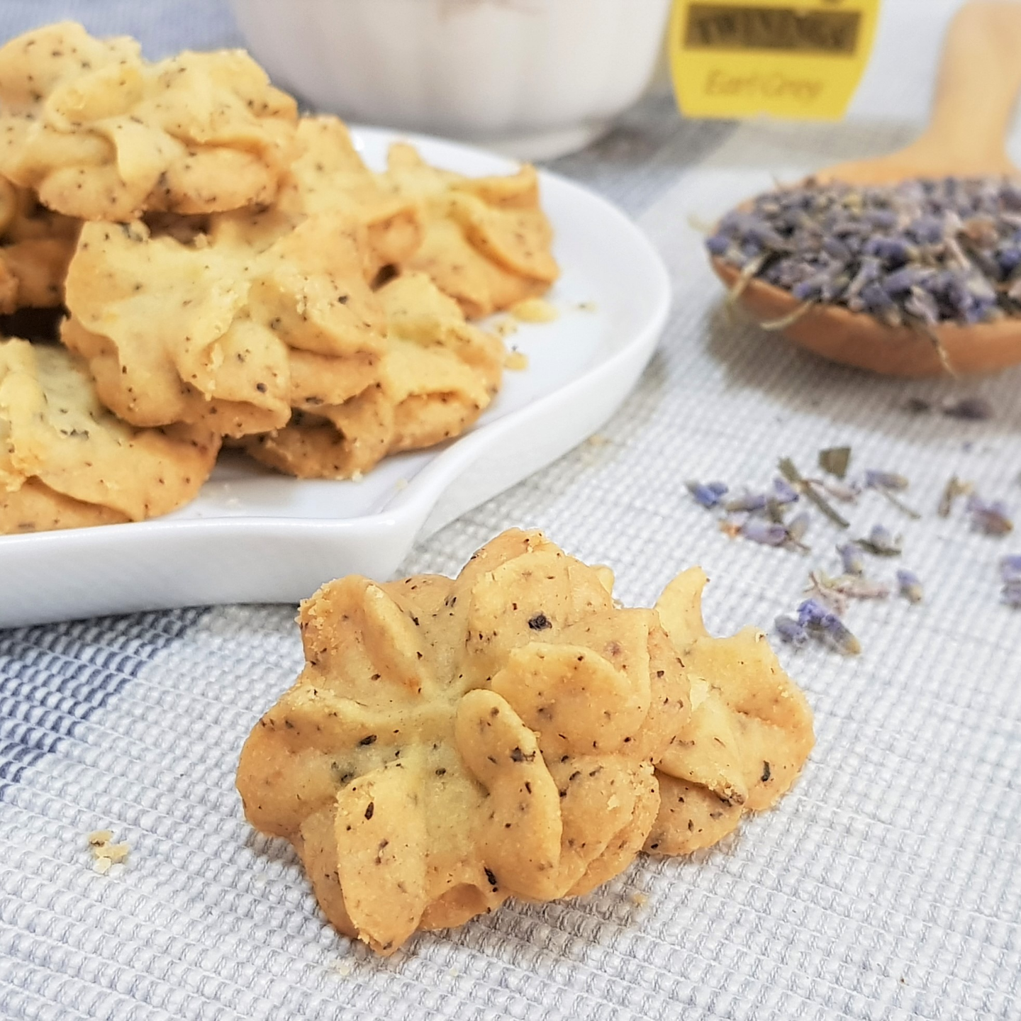 Earl Grey Lavender Butter Cookies