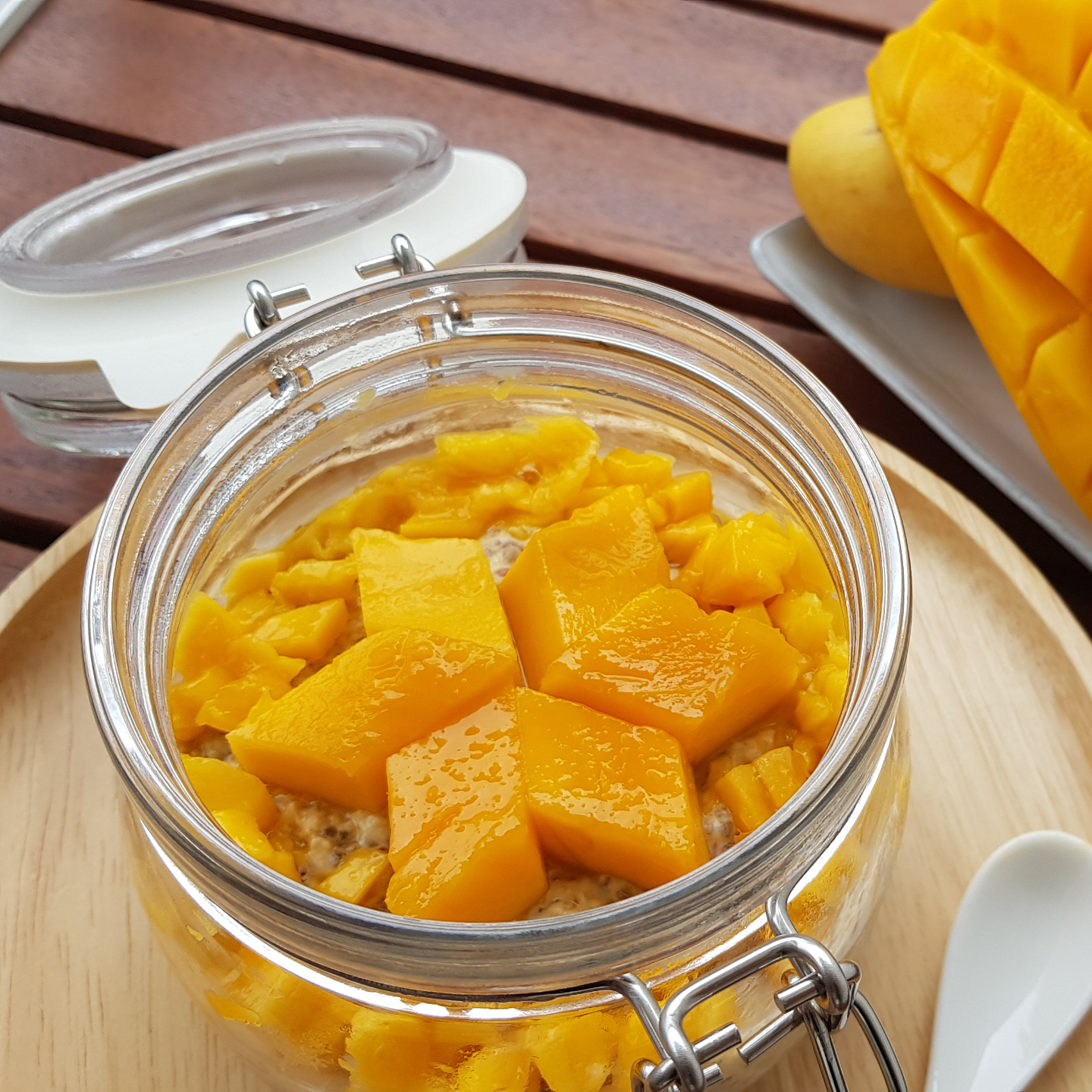 Mango Madness Lactation Overnight Oats