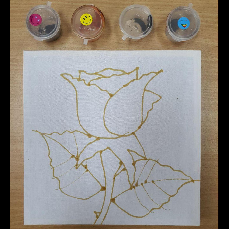 Prewaxed Batik Frame - Tulip