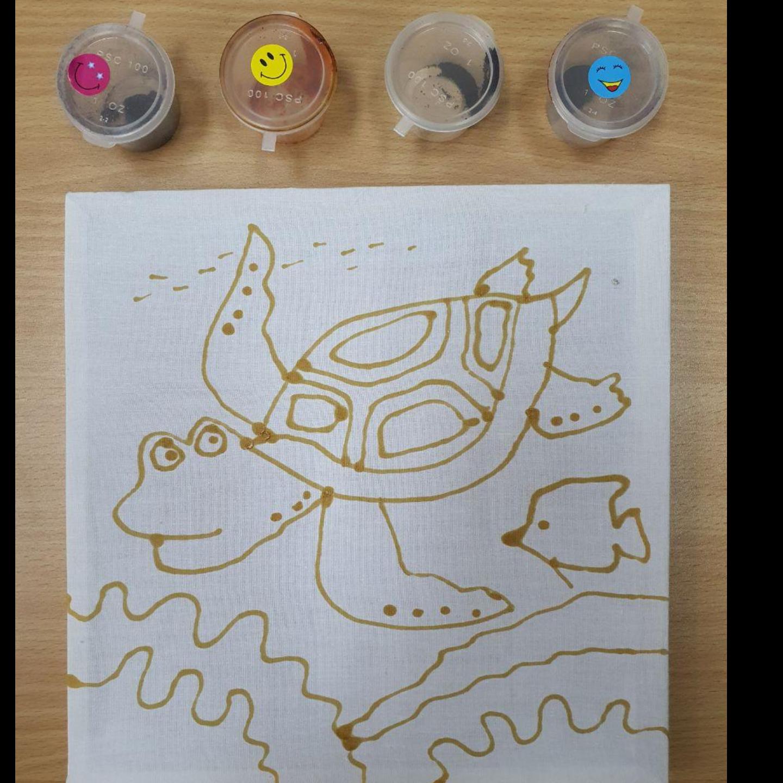 Prewaxed Batik Frame - Tortoise
