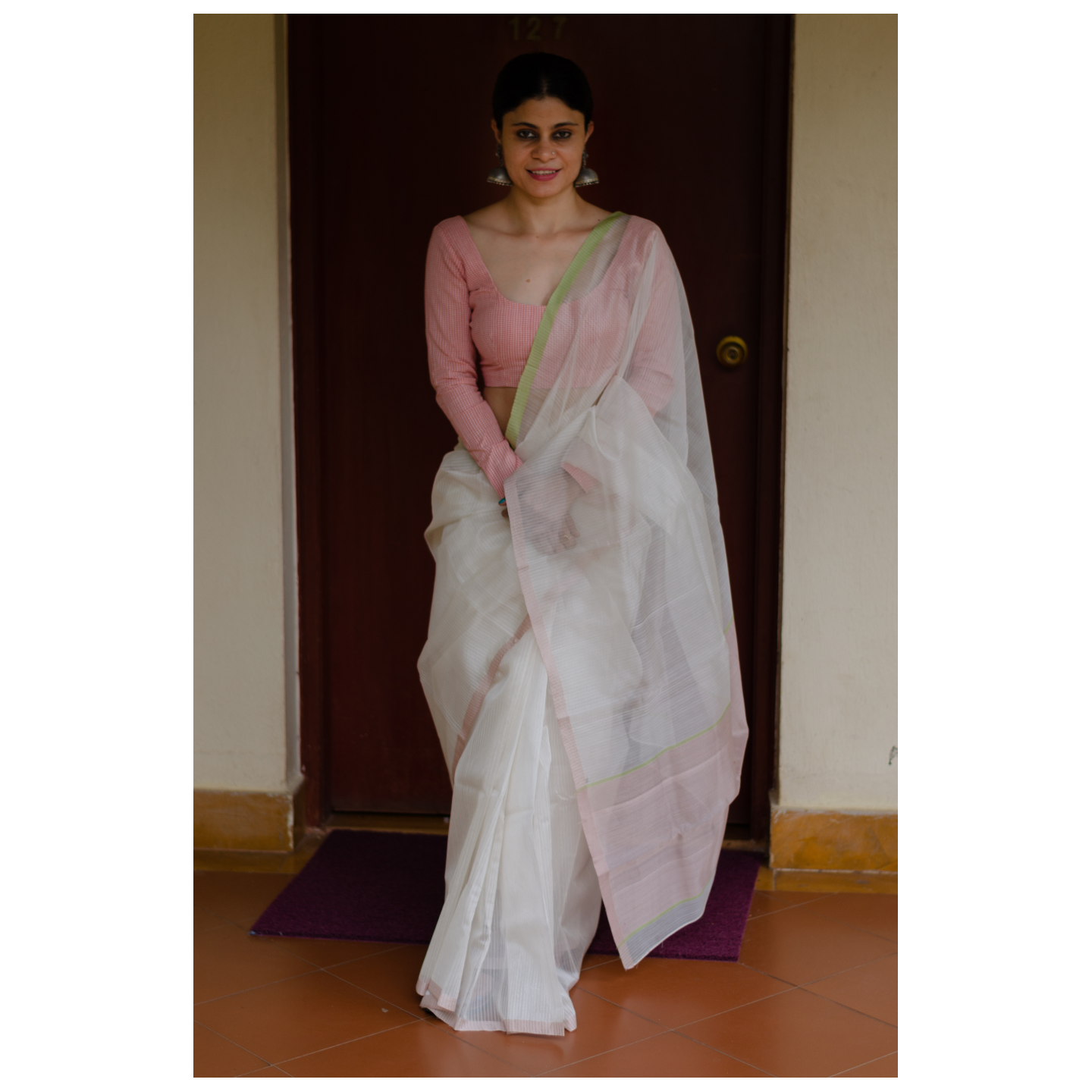 Handloom chanderi silk cotton saree
