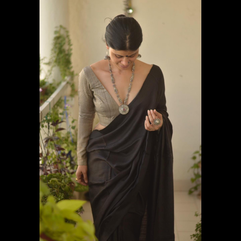 Handloom Tussar Silk Saree.