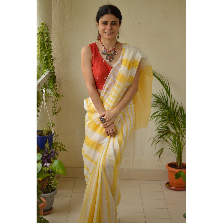 Handloom 120 count cotton saree
