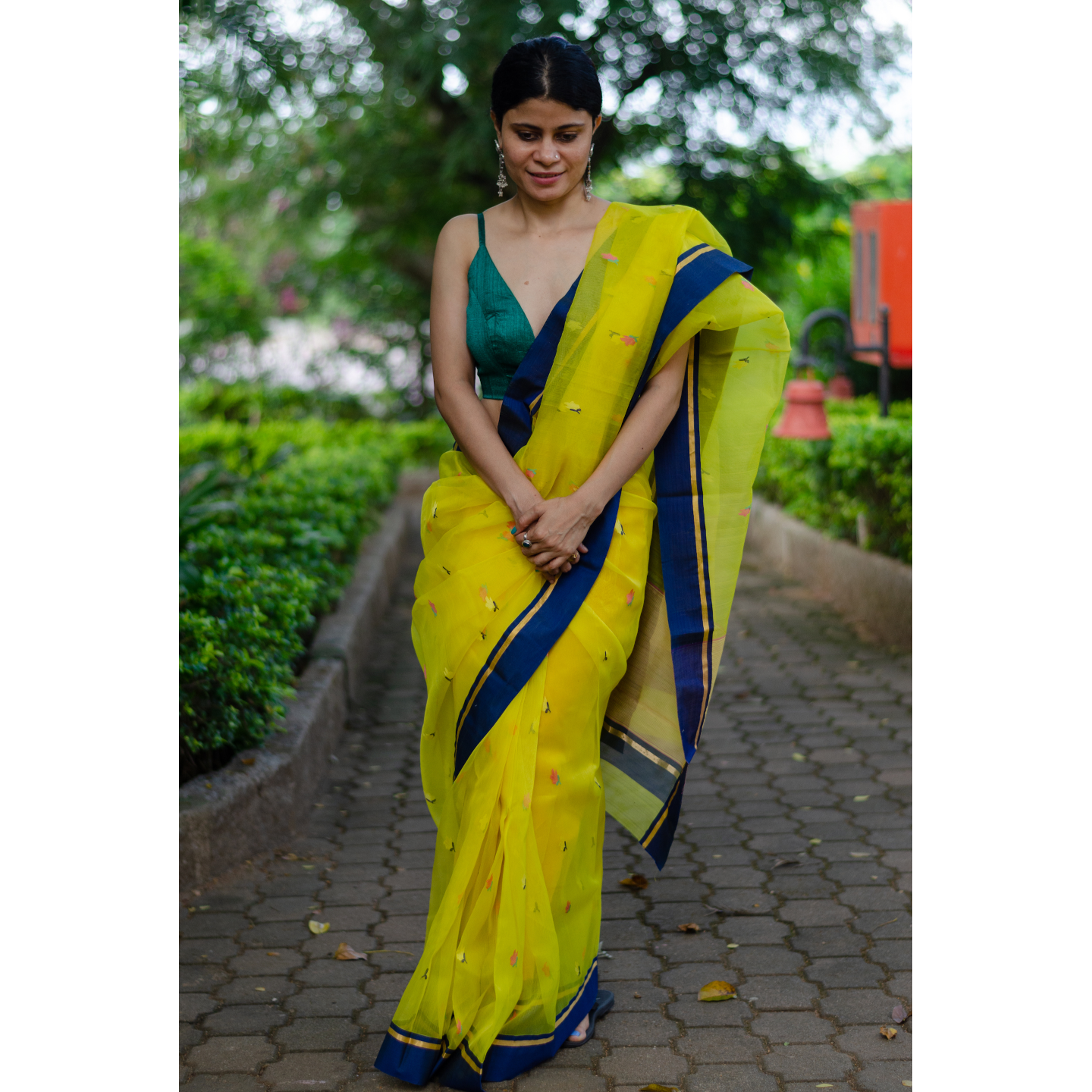 Handloom  resham  chanderi silk  saree