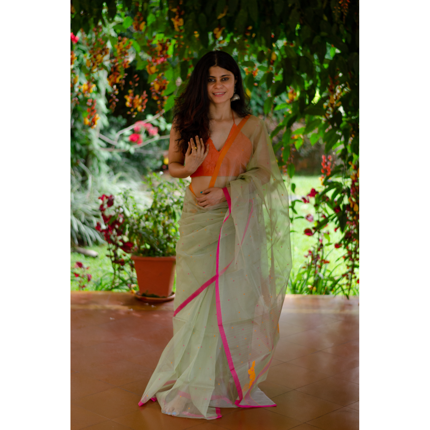 Handloom  soft resham by resham chanderi silk  saree