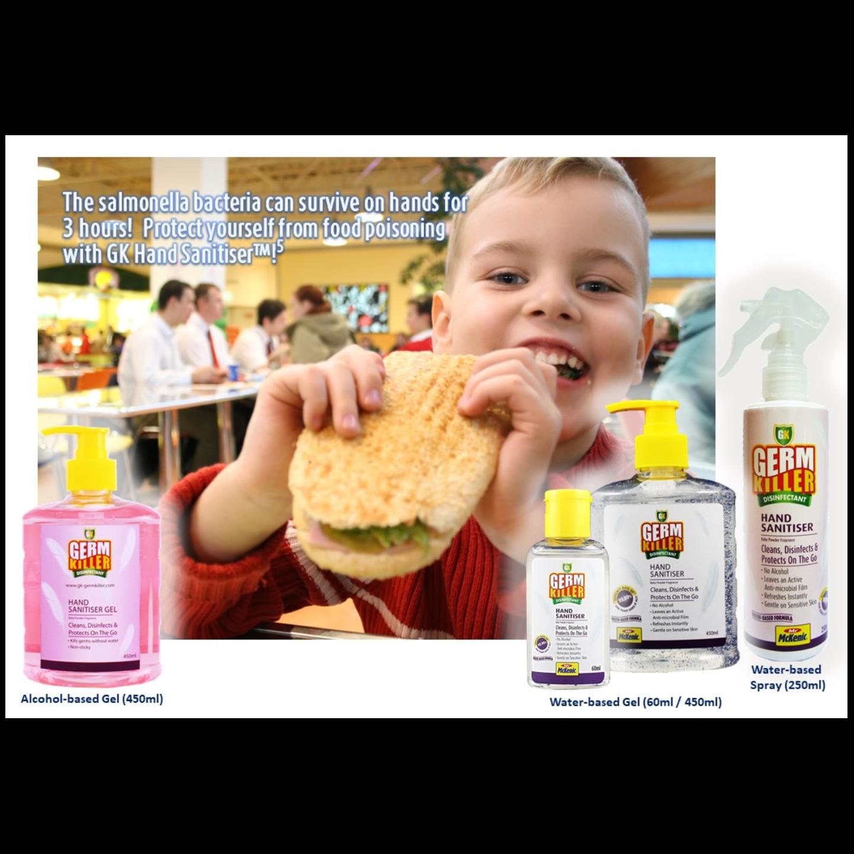 GK Hand Sanitiser Gel Alcohol-based Baby Powder Frag. 500ml