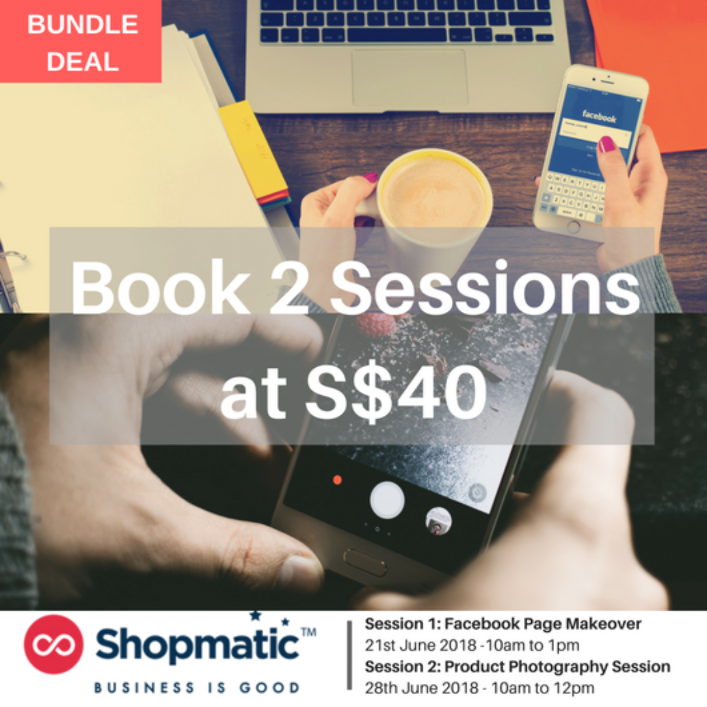 Bundle: Facebook Page Makeover + Product Photography Session