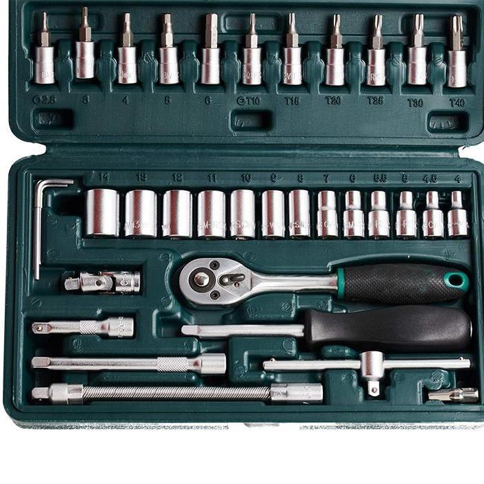 46pcsMetal 14 Socket Set Black, 46pcs