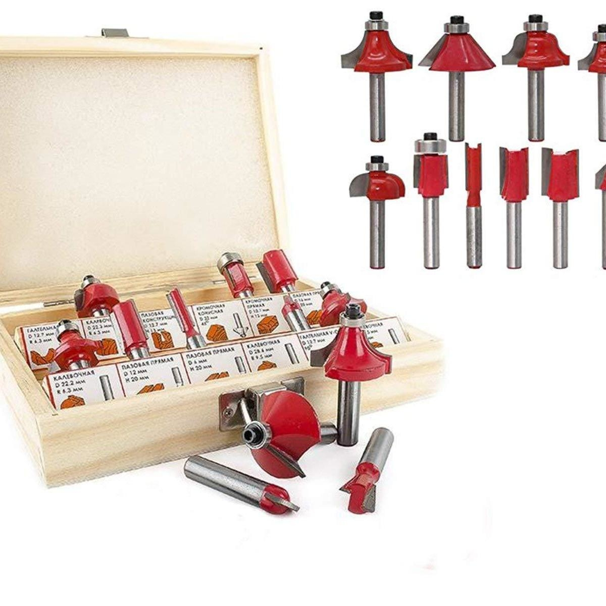 1215pcs Milling Cutter Router Bit Set