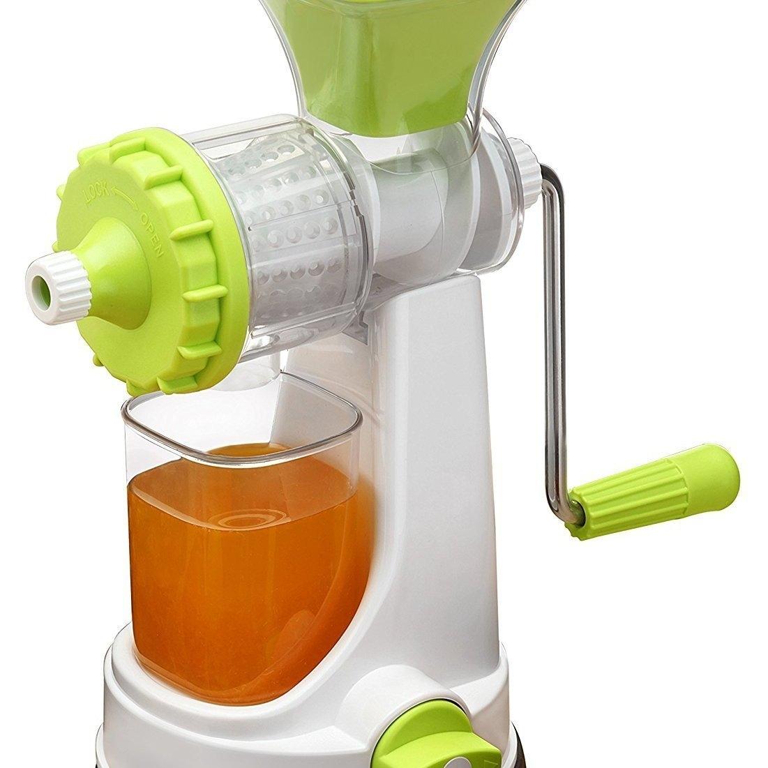 Plastic Multipurpose Manual Juicer Green