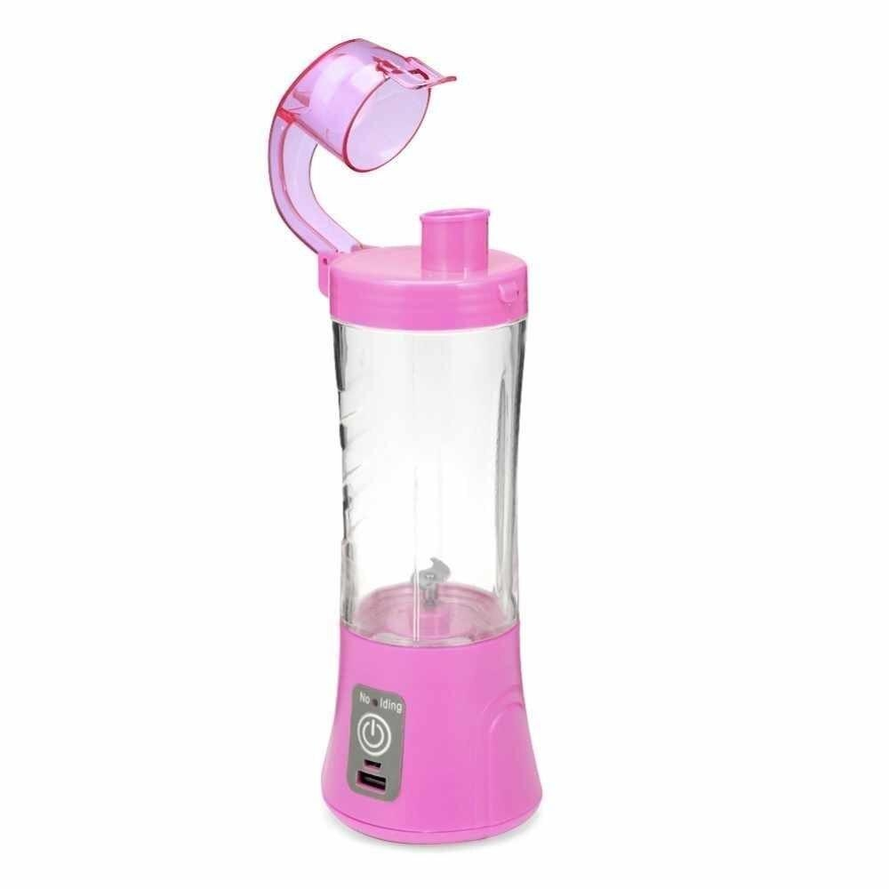 Portable Blender Juicer Cup USB Rechargeable Electric Automatic Vegetable Juicer Cup Lemon Orange Maker Mixer Bottle Drop 380ml