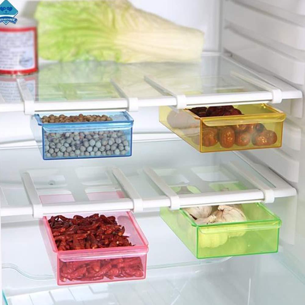 Fridge Space Saver Storage Sliding DrawerShelf Fridge Storage Box