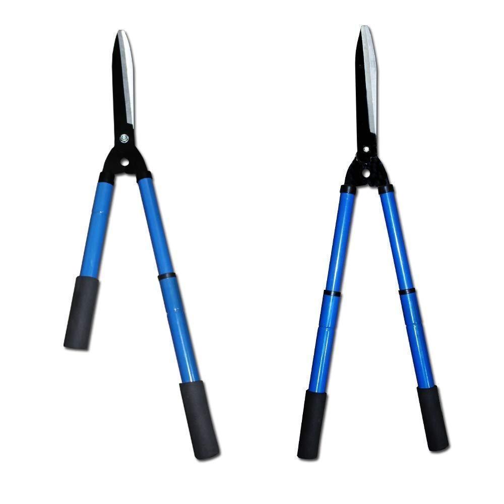 Gardening Tools - Heavy Duty Hedge Shear Adjustable Garden Scissor with Comfort Grip Handle