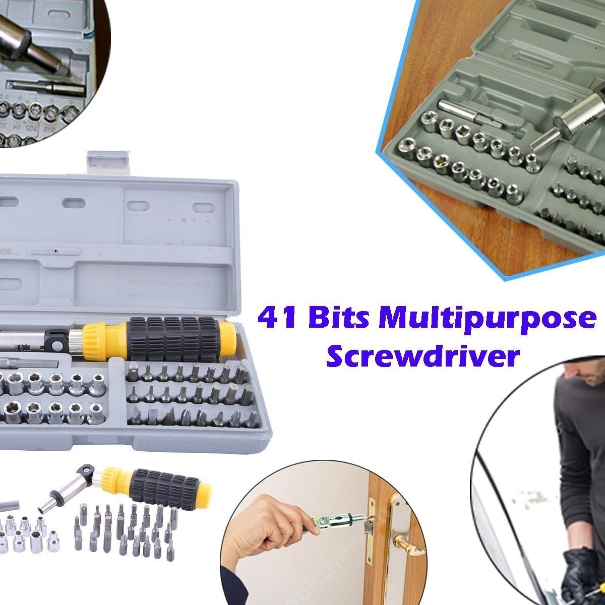 Socket and Screwdriver Tool Kit Accessories 41 pcs