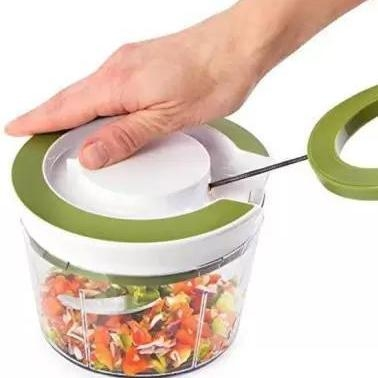 Manual 2 in 1 Handy smart chopper for Vegetable Fruits Nuts Onions Chopper Blender Mixer Food Processor