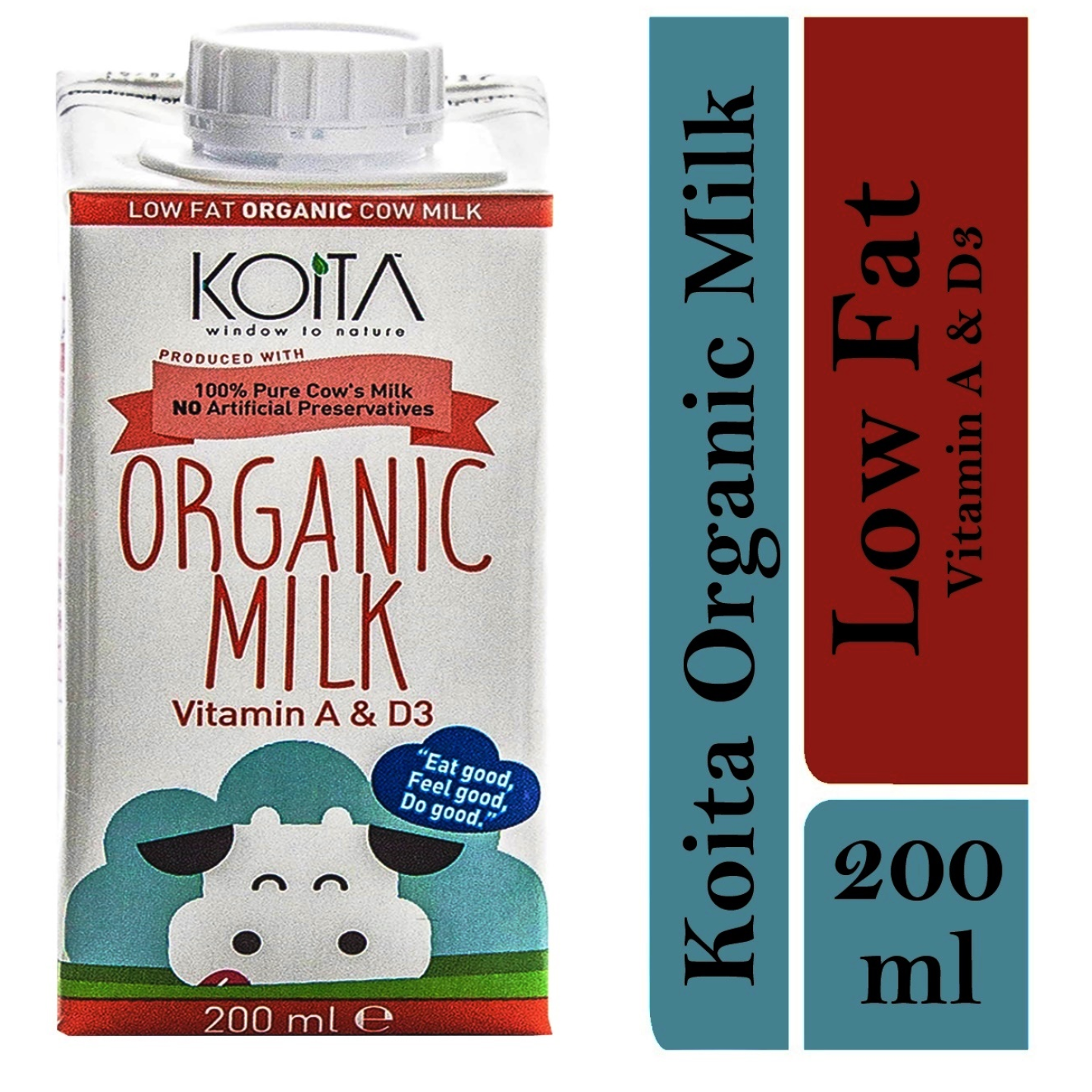 Koita Premium Organic Low-Fat Milk 1 x 200ml