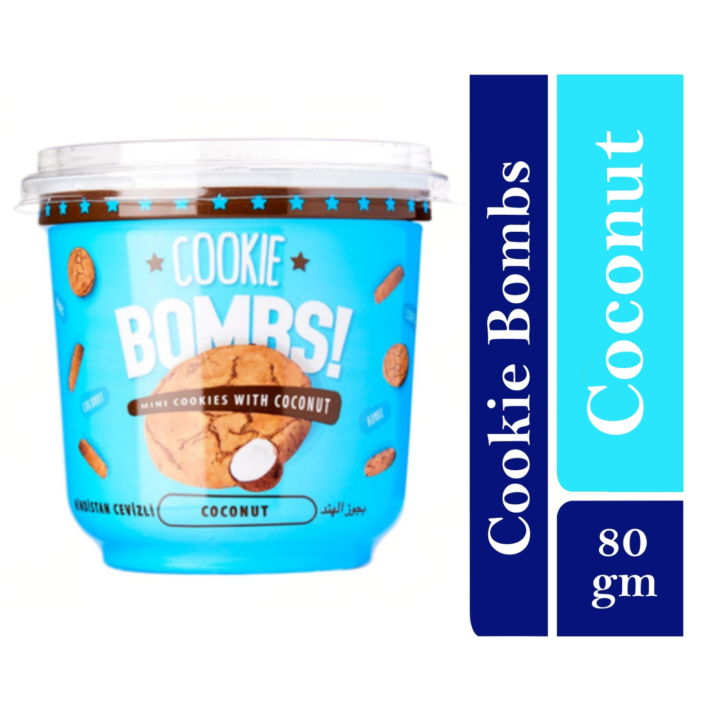 Bombs Mini Cookies with Coconut Flavor