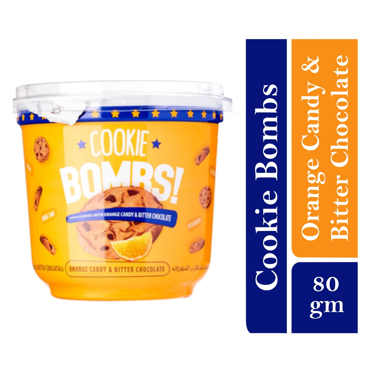 Bombs Mini Cookies with Orange Candy & Bitter Chocolate Flavor