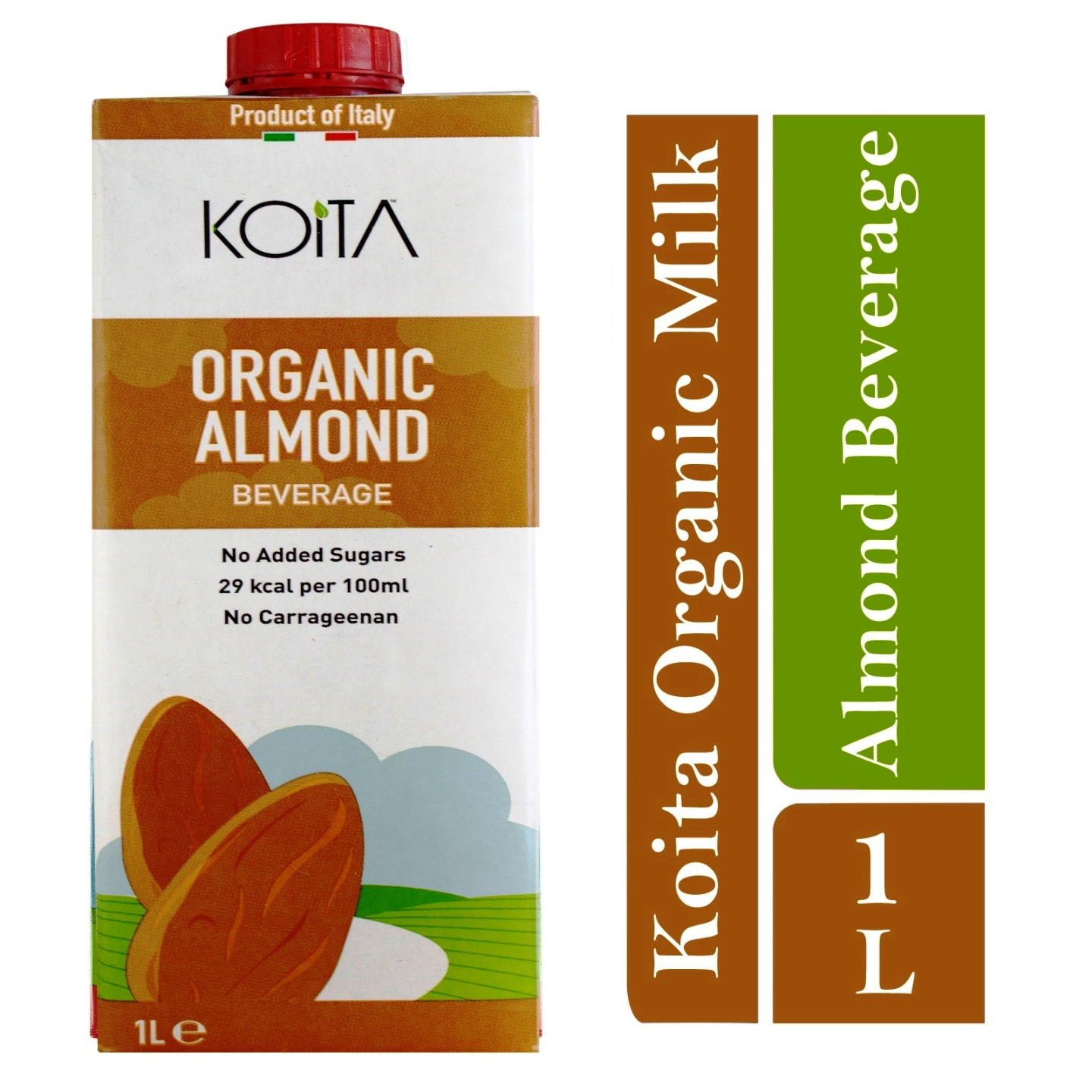 Koita Organic Almond Milk No Added Sugar 1 x 1L